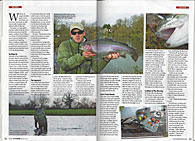 Total FlyFisher March 2013 stalking big fish lechlade and bushyleaze malcolm hunt fly fishing