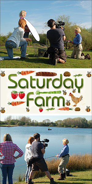 saturday farm itv visit lechlade and bushyleaze trout fisheries fishery brown rainbow UK uk gloucstershire cotswolds UK